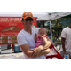 A Manhattan Beach dad enjoys the market with his wee one!