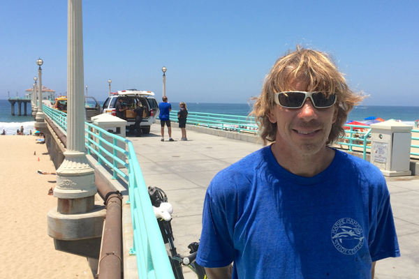 Eric Martin, marine biologist and director of The Roundhouse, which is sponsoring a seminar on sharks in South Bay waters on Tuesday, July 15.