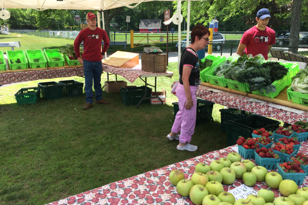 Farmer Dave is one of the vendors taking part in the weekly Farmers Market on Livingston Street.
