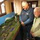 Thumb bordentown railroad days erik seidelmann left bill collom right admire model trains at christ church m skelly photo
