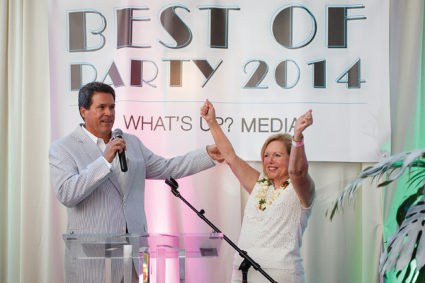 Rick Springer, BB&T Market President, and Veronica Tovey, Publisher/President of What's Up? Media