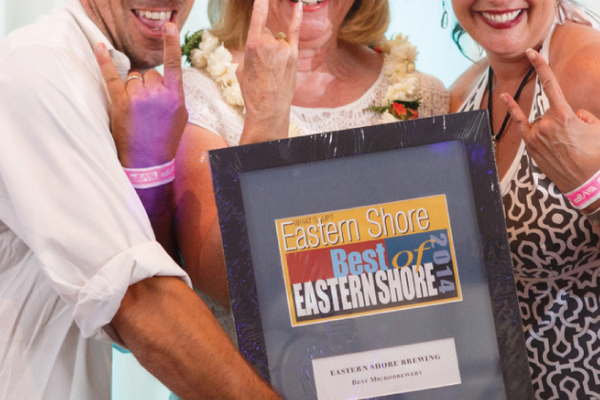 Eastern Shore Brewing Owner Adrian Mortiz, Veronica Tovey, and Lori Moritz
