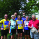 Seven Bordentown residents participated in the Anchor House Ride for Runaways July 12-19 2014 Pictured are front Peter Downey Mikki Quinn Chrissy Brennan Rebecca Busch and Tom Csapo back Paul Butterfield and Father Mike Burns