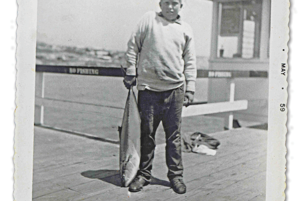 Yellowtail, San Clemente pier in 1959.