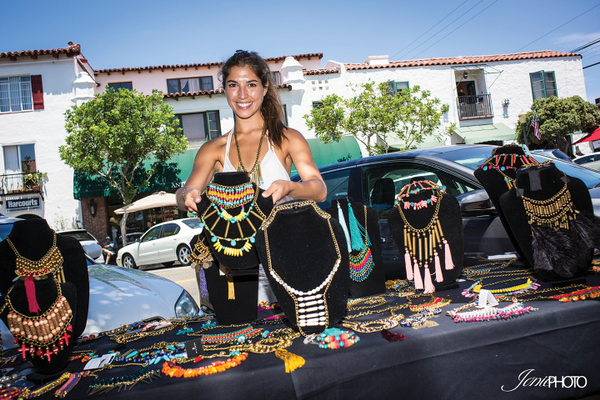 Tatiana Marmouget displays a collection of Millianna Jewelery.