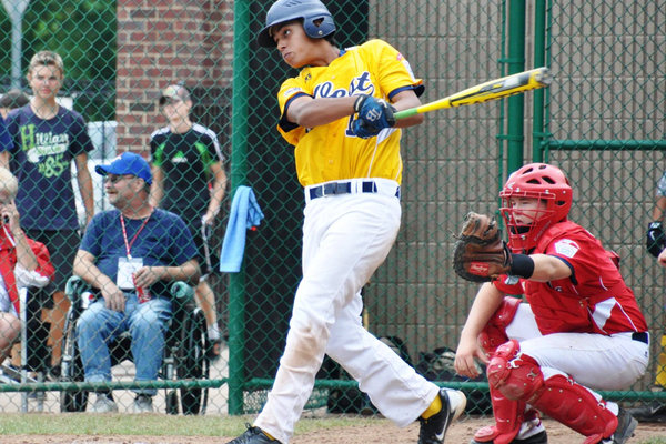 Joey Acosta at bat in a previous West victory.