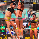 Kerri Walsh Jennings and April Ross take on the competition in the 2014 Manhattan Beach Open.