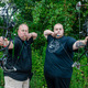 Vincent and Greg Mancini are accomplished archers