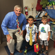 """Sharing his office with the """"Principal of the day."""""""