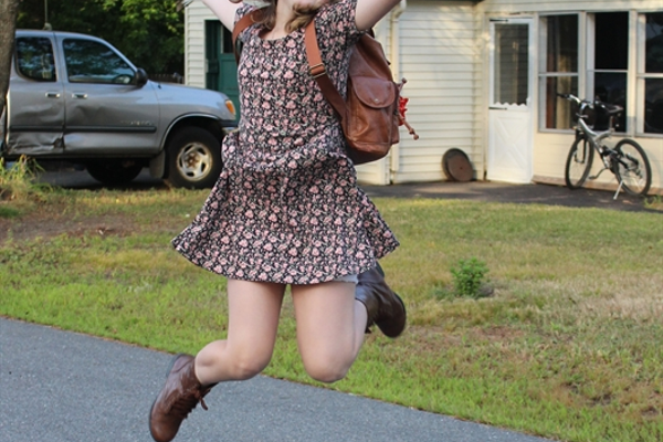 It's possible that no one has ever been as excited as Nora Kratman about her first day of middle school!