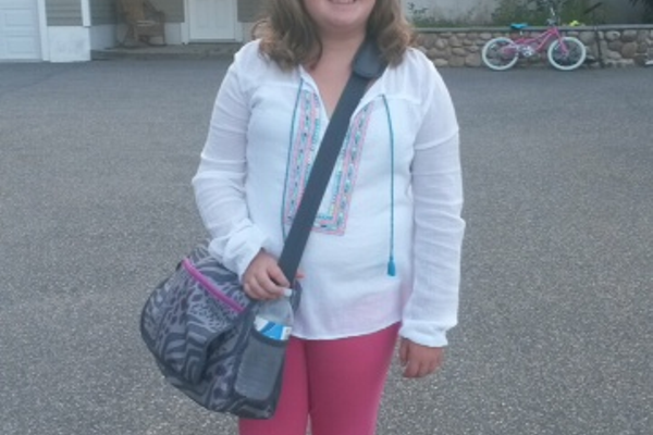 Young Miss Crisci is set for her first Day 1 of school as a Tewksbury resident!